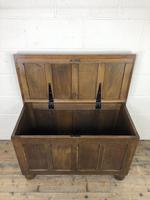 Vintage Oak Panel Blanket Box or Coffer Chest (11 of 15)
