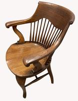 Superb Pair of Victorian Oak Captains Chairs (2 of 2)