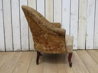 Antique French Tub Chair For Re-upholstery (5 of 8)
