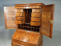 Fine Quality Early 20th Century Complex Walnut Bureau of William & Mary Design (3 of 4)
