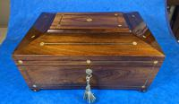 William IV Rosewood Box with Mother of Pearl Inlay (7 of 13)