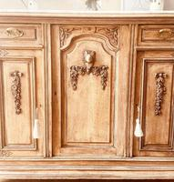 French Antique Oak Sideboard / Cupboard / Cabinet with Arabescato Marble (4 of 10)