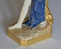 1919 Royal Worcester 'bather Surprised' Figure Modelled by Sir Thomas Brock (3 of 11)