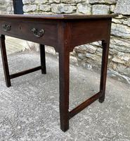 Antique Georgian Oak Side Table (4 of 14)