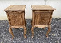Nice Pair French Bleached Oak Bedside Cupboards (7 of 10)