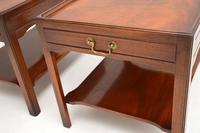 Pair of Georgian Style Mahogany Side Table c.1950s (10 of 12)
