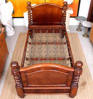 Bed Frame Edwardian Carved Mahogany Barley Twist (2 of 11)