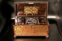 Exceptional Regency Period Brass Inlaid Tea Caddy (3 of 5)