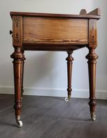 Victorian Pitch Pine Highly Decorated Side Table (4 of 8)