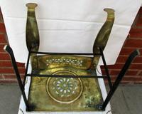 Antique English Victorian Brass & Steel Footman (6 of 6)