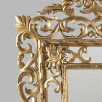 Large 19th Century Carved Giltwood Marginal Overmantle Mirror (14 of 16)