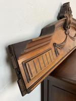 Antique French Pediment Walnut Panel Architectural Salvage Ceil De Lit (5 of 9)