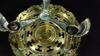 Antique Victorian Pierced Brass Trivet Kettle Stand (7 of 10)