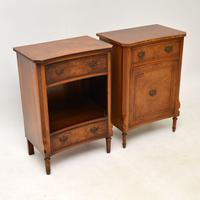 Pair of Georgian Style Burr Walnut Bedside Cabinets c.1930 (3 of 11)