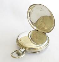 """1918 silver """"Just"""" pocket watch, 24 hour dial (4 of 5)"""