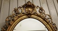 A Very Large French Rococo Oval Gilt Wall Mirror (5 of 10)