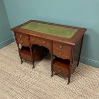 Small Victorian Walnut Antique Writing Desk (5 of 5)