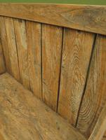Antique Elm Tavern Bench Settle, Rustic Hall Seat (11 of 19)