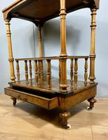 Victorian Inlaid Walnut Canterbury What Not (2 of 11)