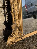 Large Victorian Gilt Overmantel Mirror (10 of 20)