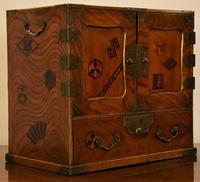 Excellent 19th Century Japanese Elm Jewellery Box/ Table Cabinet. (7 of 15)