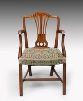 Attractive Set of 10 (8+2) Camel Backed Mahogany Framed Chairs (5 of 7)
