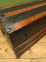 Antique Dome Top Pirates Trunk Storage Chest (9 of 12)