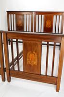 Pair of Edwardian Mahogany & Inlaid Single Beds (4 of 13)