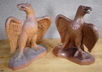 Pair of Salt Glazed Eagles c.1910