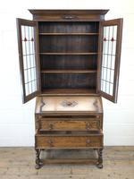 Early 20th Century Antique Oak Bureau Bookcase (3 of 16)