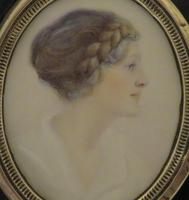 Miniature Portrait by Arthur Royce Bradbury A.R.W.A. 1892-1977 (2 of 3)