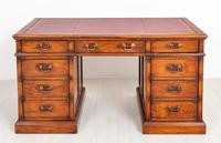 Oak Pedestal Desk c.1930 (2 of 9)