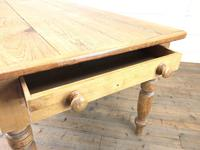 Victorian Antique Pine Farmhouse Kitchen Table (3 of 10)