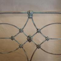 Blue Verdigris Platform Style Victorian Antique Single Bed (6 of 8)