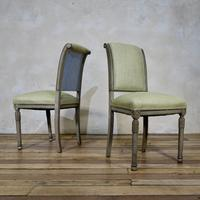 Pair of French Painted Louis XVI Style Side Chairs (2 of 12)