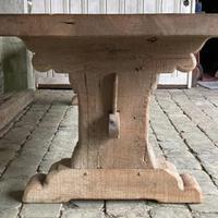 Huge French Bleached Oak Farmhouse Refectory Dining Table (5 of 11)