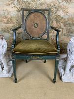 Fabulous Set of 6 Green Painted Armchairs (7 of 12)