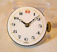 9ct Gold Ladies Wrist Watch 1934 Swiss 15 Jewel Porcelain Dial Red 12 FWO (6 of 12)