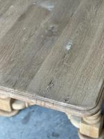 French Bleached Oak Refectory Farmhouse Dining Table (26 of 26)