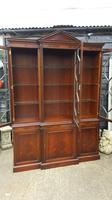 Reprodux Bevan Funnell Mahogany Breakfront Library Bookcase (3 of 5)