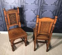 Pair of Victorian Oak Hall Chairs (13 of 17)