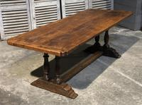 French Oak Farmhouse Refectory Dining Table (8 of 20)