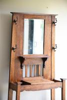 Early 20th Century Oak Hall Stand (5 of 12)