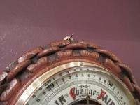 Antique Polished Oak Ship's Barometer (4 of 6)