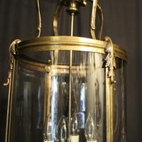 French Large Brass Four Light Antique Lantern (3 of 10)