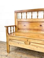 Vintage Pine Settle Bench with Storagev (5 of 10)