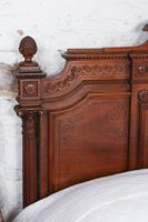 Beautiful Carved Walnut European King Size Bed (10 of 13)