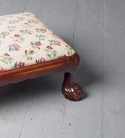 Carved Mahogany Footstool by Whytock & Reid (4 of 5)