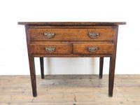 Early 19th Century Oak Lowboy Side Table (2 of 13)