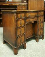 Antique Serpentine Front Walnut Desk (2 of 10)